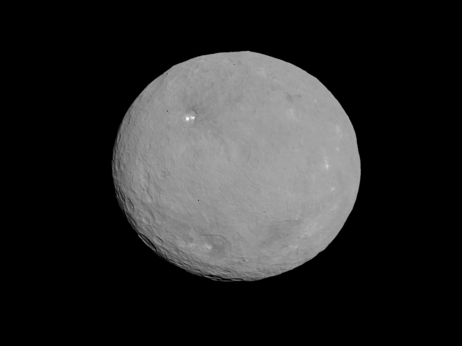 Ceres with white spots